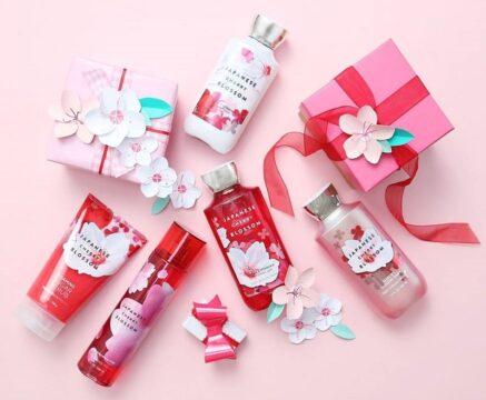 Sưu tầm bộ cherry blossom bath & body works