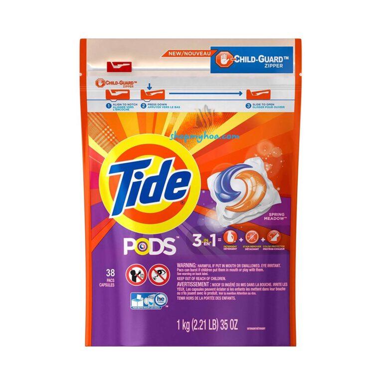 Viên giặt xả TiDE hàng Mỹ