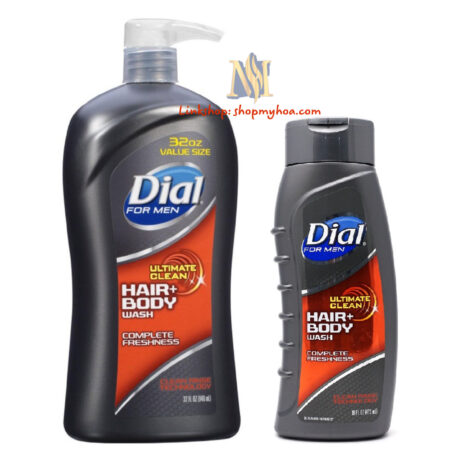 TẮM GỘI cho nam 2IN1 DIAL HAIR & BODY WASH ULTIMATE CLEAN