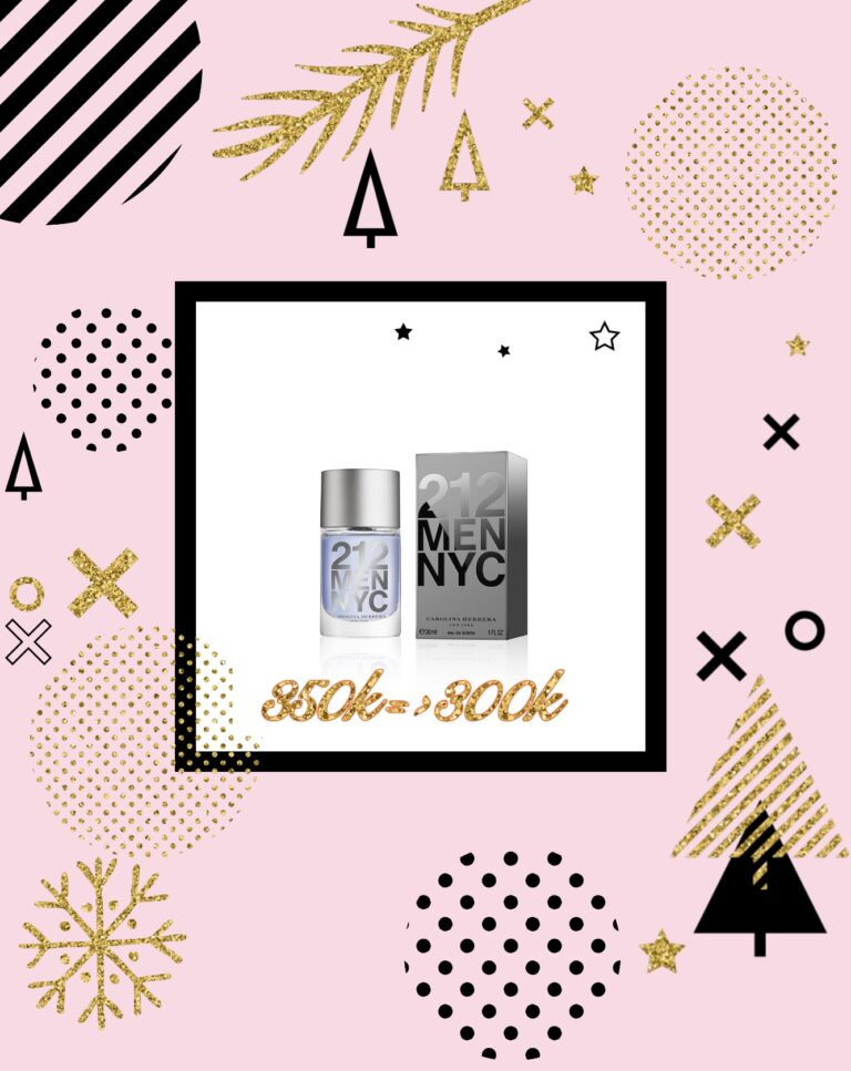 Nước hoa nam 212 Men Nyc Carolina Herrera Eau De Toilette 7ml
