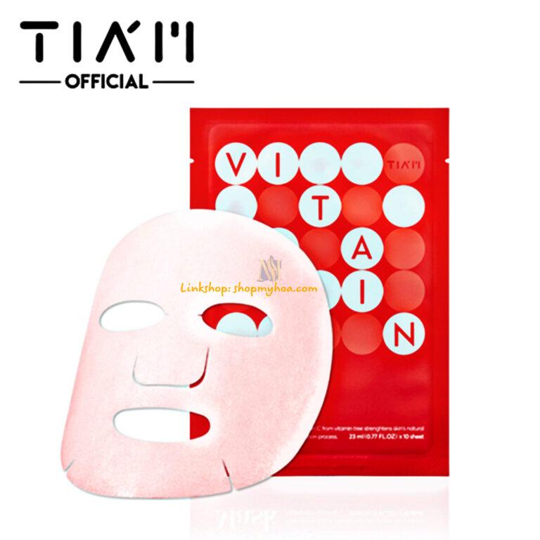 Mặt Nạ 10 miếng Tiam My Signature Vita Red Mask – Mặt nạ thần thánh V