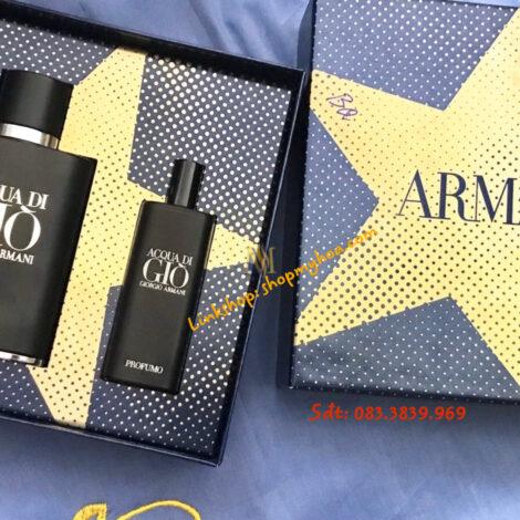 Bộ Nước hoa nam Giorgio Armani Acqua Di Gio Profumo Eau De Parfum Spray xách tay