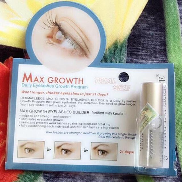 TINH CHẤT LÀM DÀI LÔNG MI VÀ DẦY LÔNG MÀY 21 ngày MAX GROWTH