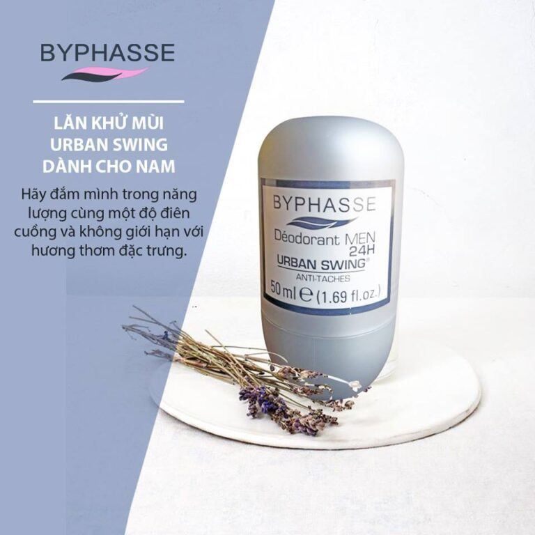 Lăn Khử Mùi Nam Byphasse Deodorant Men 24H URBAN SWING.