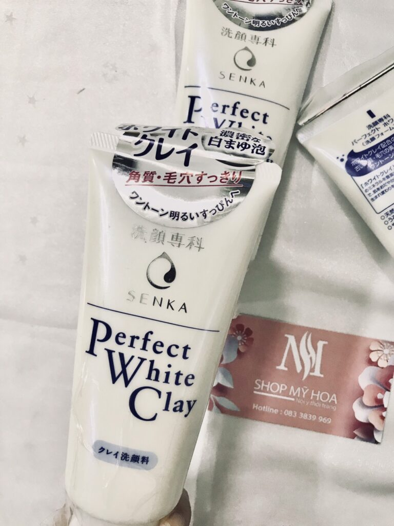 sữa rửa mặt senka đất sét trắng nhật bản